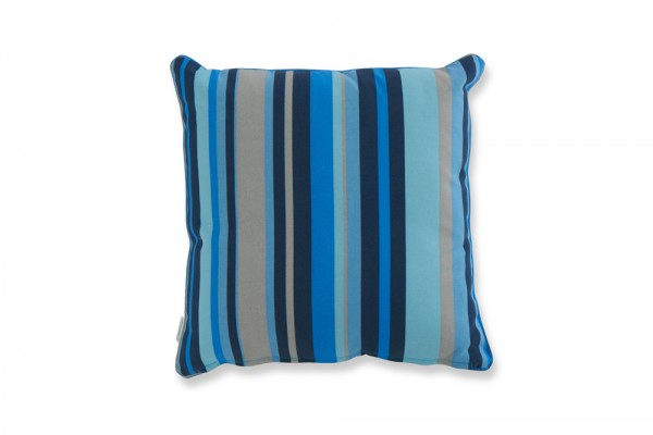 Decorative pillow with blue stripes