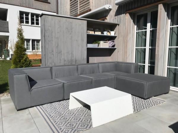 Lounge de jardin Eline en gris