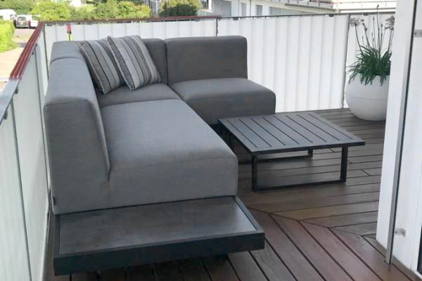 Sacramento garden lounge, right, in grey
